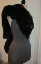 Night By Valentino Black Shoulder Fox Vintage Made In Italy
