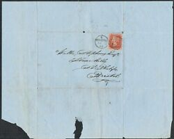 1863 Cover Bristol 1d Star Mk And039134and039 Bristol Duplex With Contents