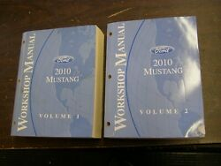 Oem Ford 2010 Mustang Shop Manual Book + Wiring Diagram Gt V6 Shelby Gt500 Nos
