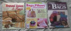 3 BK Simply Sensational Bags DIY Quilting Travel Totes Satchels Clutches Purses $9.99
