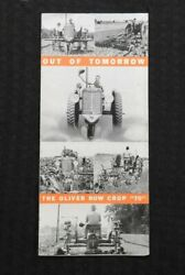 1935 Out Of Tomorrow The Oliver Row-crop 70 Tractor Brochure
