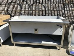 60 Electric Steam Table Stainless Steel 4 Pans 1 Element 208 Volts 1 Phase Nsf