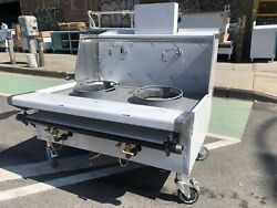 """48"""" 4ft Stainless Steel Chinese Range Wok Two 16 Hole Jet Burners -nsf Approved"""