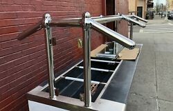 96 8' Ft Sneeze Guard Chrome Finish Buffet Style W/ Tempered Glass - New