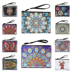 DIY Mandala Animal Diamond Painting Wristlet Bag Clutch Wallet Purse Xmas Gifts