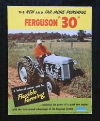 1952 Ferguson The New And Far More Powerful Te To 30 Tractor Sales Brochure