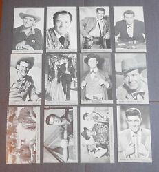 Lot Of 24 Different Vintage Western Penny Arcade Card Incl. Gene Autry