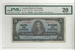 1937 Osborne/towers 5 Note Bc-23a Pmg Vf-20 Sn A/c 7658999