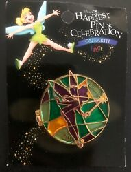 Disney Trading Happiness Pin Celebration 2005 Tinker Bell Hinged Stained Glass