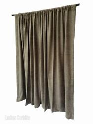 Green 72 Inch H Fire Rated Velvet Curtain Panel W/rod Pocket Window Treatment