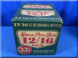Simon Pure Beer 12/16 Ounce Returnable Bottle Empty Pack Case Buffalo Ny Brewery