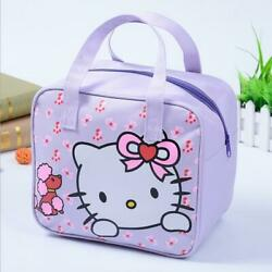 Cute Hello Kitty Bow Lunch Bag Oxford Bento Box Food Storage Handbag Tote Girls $13.98