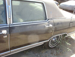 Driver Rear Door And Glass Lincoln Continental Town Car 77 78 79