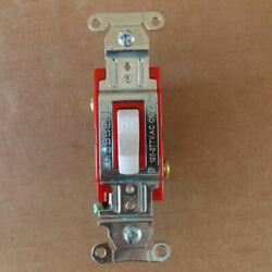 Hubbell 1222w Pro Toggle Switch Double Pole 20 Amp 120/277v White - New