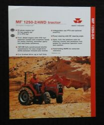 1996 Massey-ferguson Mf 1250 2 And 4wd Tractor Specifications Brochure Nice