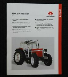 1992 Massey-ferguson Mf 390 2 And 4wd Tractor Specifications Brochure Nice