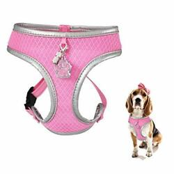 Wonderpup Reflective Dog Cat Harness No Pull Soft Mesh Adjustable Safe Harness F