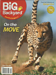 Big Backyard Magazine Animals On The Move Spotted Hyena Family Fun Guide Poster