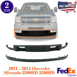Front Lower Valance Air Deflector + Extension For 11-14 Silverado 2500hd 3500hd