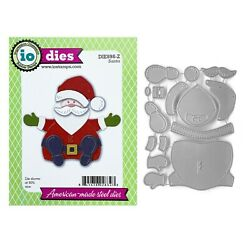 Christmas Santa Metal Die Cut Impression Obsession Steel Holidays Cutting Dies