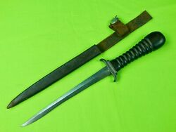 Antique French France German Germany Ww1 Trench Fighting Knife Dagger And Sheath