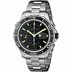 Tag Heuer Men's CAK2111.BA0833 'Aquaracer500' Black Dial Silver, Black Country