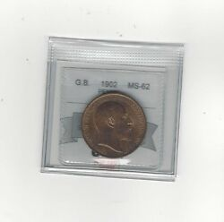 1902 Great Britain, One Penny, Coin Mart Graded Ms-62
