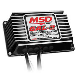 Msd 64213 Black 6al-2 Ignition Control Box With Built-in 2 Step Rev-limiter