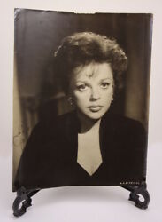 Judy Garland Signed Photo And Signed Paperwork With Newspaper Cutout