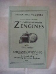 Brochure Instructions No 2548d Setting Up Operating Fairbanks Morse Type Z
