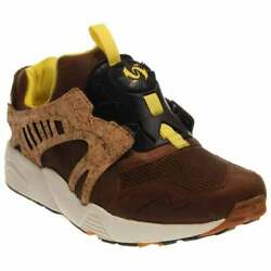Puma Leather Disc Cage Lux Sneakers Casual Running  Sneakers Brown Mens - Size