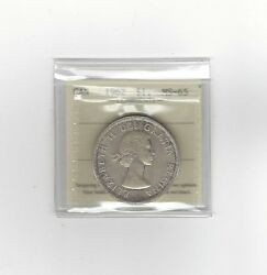 1962 Iccs Graded Canadian Silver Dollar Ms-65