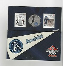 2012 Canadian Football League Coin And Stamp Uncirculated Set To Argonauts