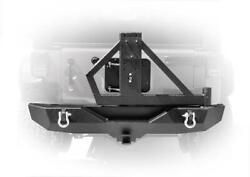 Dv8 Offroad Rs-2 Single Action Rear Bumper/tire Carrier For 07-18 Jeep Wrangler
