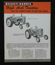 1950and039s Massey-harris 2-3-4 Plow 22 30 And 44 Tractor High Arch Hi-crop Brochure