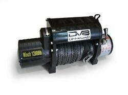 Dv8 Offroad Wb12sr 12000 Lb Winch W/ Synthetic Line And Wireless Remote