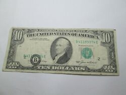 1985 Error Us 10 New York Seal Off Center Note Circulated