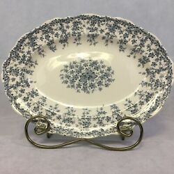 Crown Ducal Early English Ivy Rare Blue Platter China Scalloped Edge
