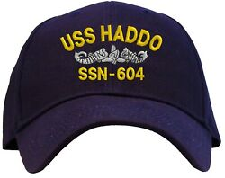Uss Haddo Ssn-604 Embroidered Baseball Cap - Available In 3 Colors