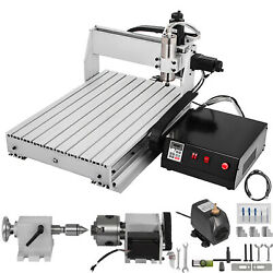 4 Axis Cnc 6040 Router 1000w 3d Wood Milling 4th Rotary Axis W/ Controller Usb