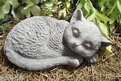 Latex Cat Mold Textured Detailed Mould With Plastic Backup 8l X 3.5 X 5w