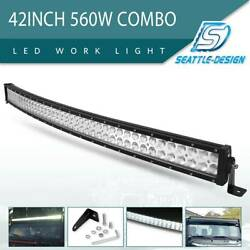 42inch 560w Curved Led Light Bar Spot Flood Offroad Driving Truck 4wd Ute Rzr 40