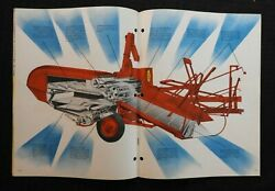 1950 Massey-harris Mh Clipper Engine-driven And Pto Pull-type Combine Brochure