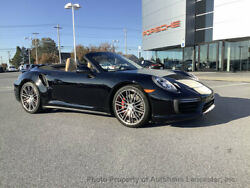 2018 Porsche 911 Turbo Cabriolet Turbo Cabriolet Low Miles 2 dr Convertible Automatic Gasoline 3.8L FLAT 6 Cyl Bl