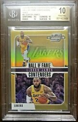 2018-19 Contenders Optic LEBRON JAMES Gold Hall of Fame Old Jersey# 610 BGS10🔥