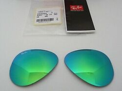 Authentic New RAY BAN RB3025 11219 58mm Green Flash Mirror Replacement Lenses