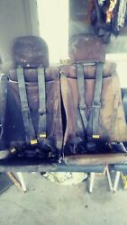 A Set Of 2 Decommissioned Military Humvee Seats W/ 4 Point Harness. Rare Piece