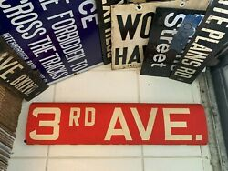 Ny Nyc Bus Roll Sign Bronx West Farms 3rd Ave Astor Marks Place Bowery Park Row