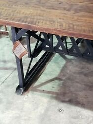 New Vintage Industrial Style Conference Table