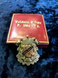 1894 Great Britain Olympic F.c Walsall Football Association Medal Badge Fob